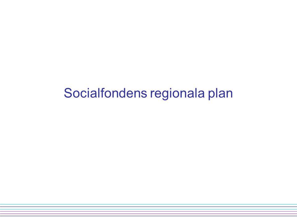 Socialfondens regionala plan