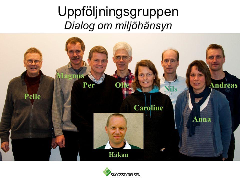 Uppföljningsgruppen Dialog om miljöhänsyn Caroline Nils Pelle PerAndreas Anna Olle Magnus Håkan