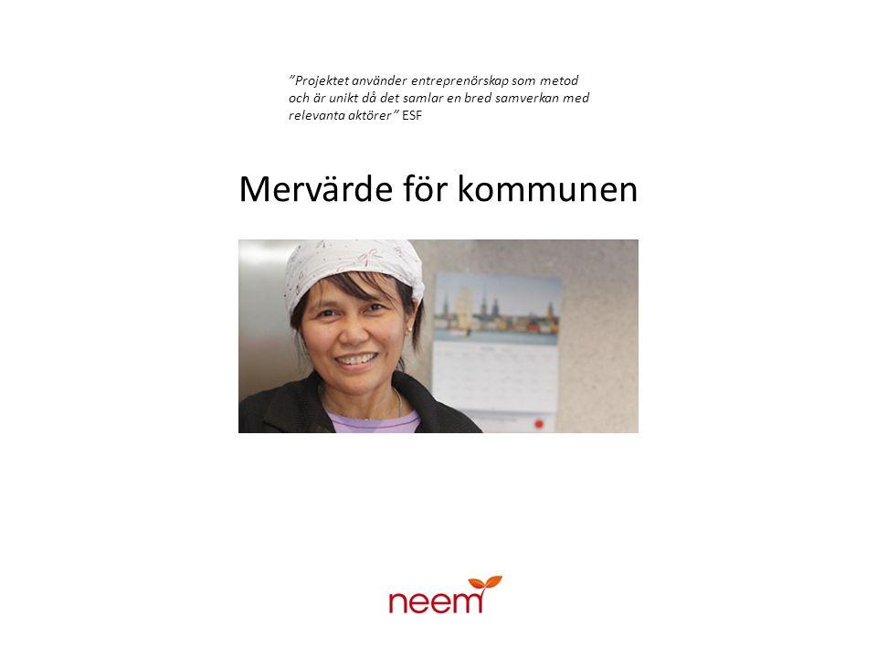 Målgrupp Arbetslösa – fas 1 & 2 samt nyanlända Minst 80 % kvinnor Minst 85 % med utländsk bakgrund - En viktig målgrupp som i dagsläget har små möjligheter att förändra sin livssituation.