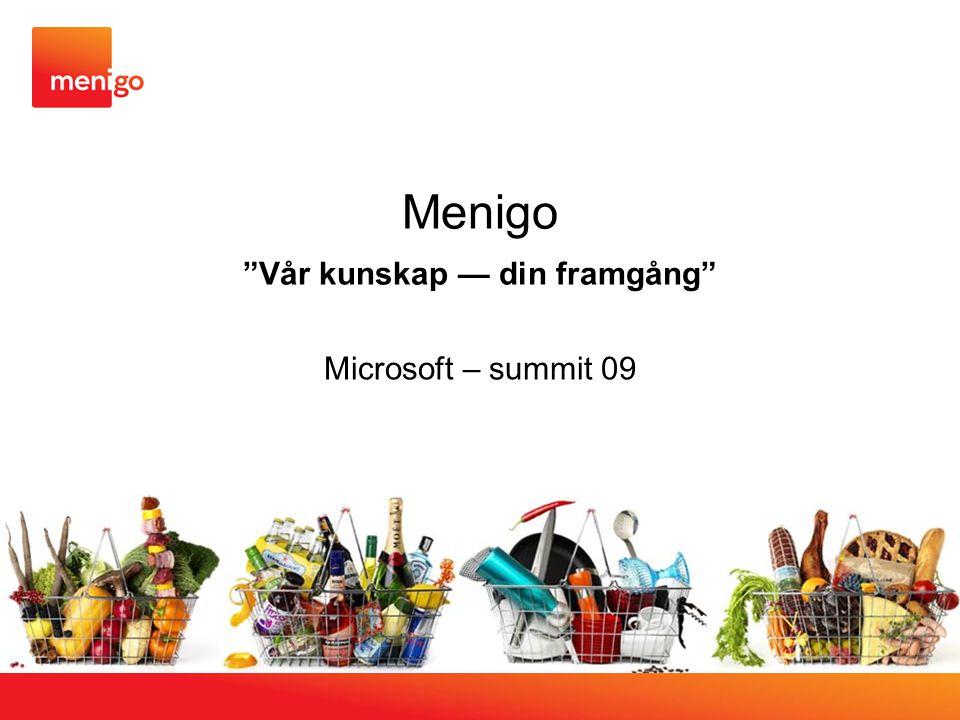 """Menigo """"Vår kunskap — din framgång"""" Microsoft – summit 09"""