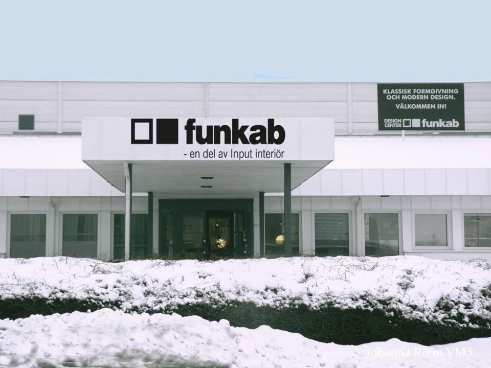  funkab är ett familjeföretag som grundades 1973 av Thord Widerberg  Säljer design möbler till företag och även privat  1 maj 2008 tar Input Interiör över funkab  11 anställda  Omsätter 49 200 tkr  VD Torbjörn Widerberg