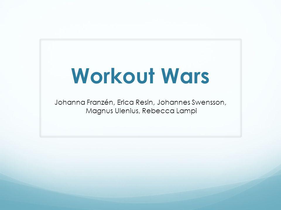Workout Wars Johanna Franzén, Erica Resin, Johannes Swensson, Magnus Ulenius, Rebecca Lampi