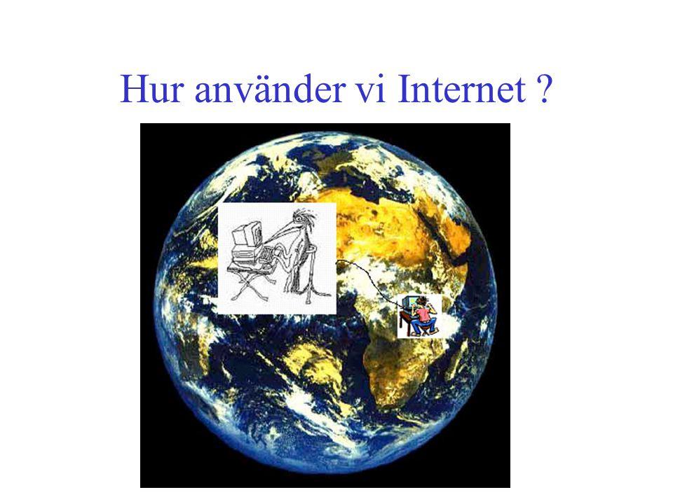 Hur använder vi Internet