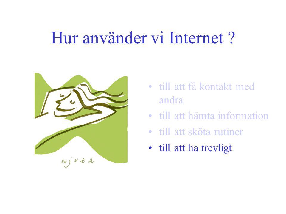 Hur använder vi Internet .