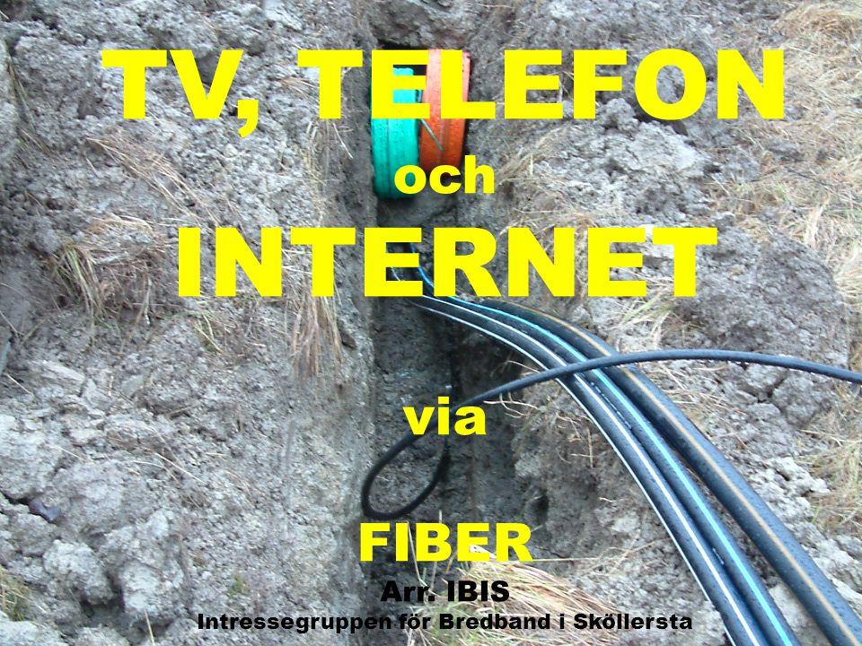 TV, TELEFON och INTERNET via FIBER Arr. IBIS Intressegruppen för Bredband i Sköllersta