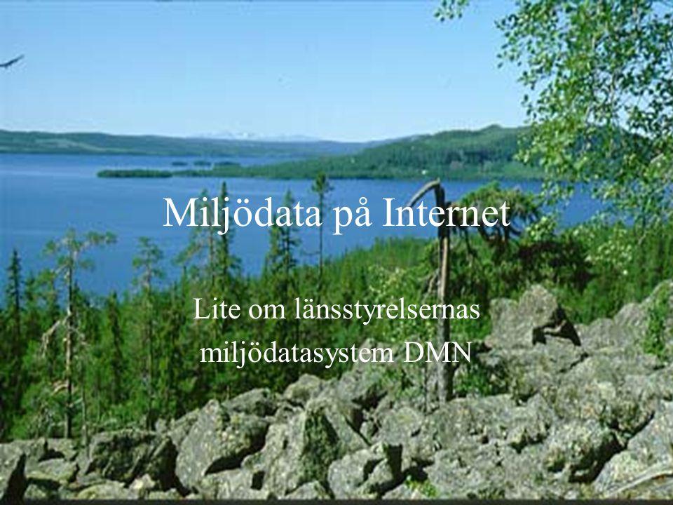 Miljödata på Internet Lite om länsstyrelsernas miljödatasystem DMN