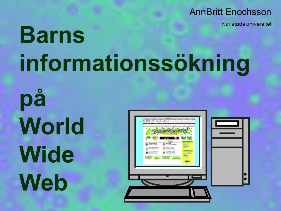 TROVÄRDIGHET 1.Inga uttryck för reflektion över trovärdigheten på Internet.
