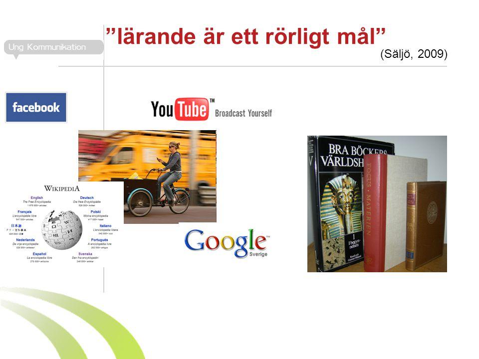 """""""lärande är ett rörligt mål"""" (Säljö, 2009)"""