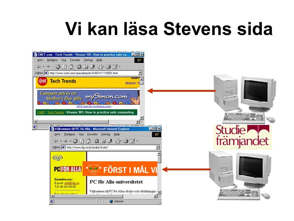 Vi kan läsa Stevens sida