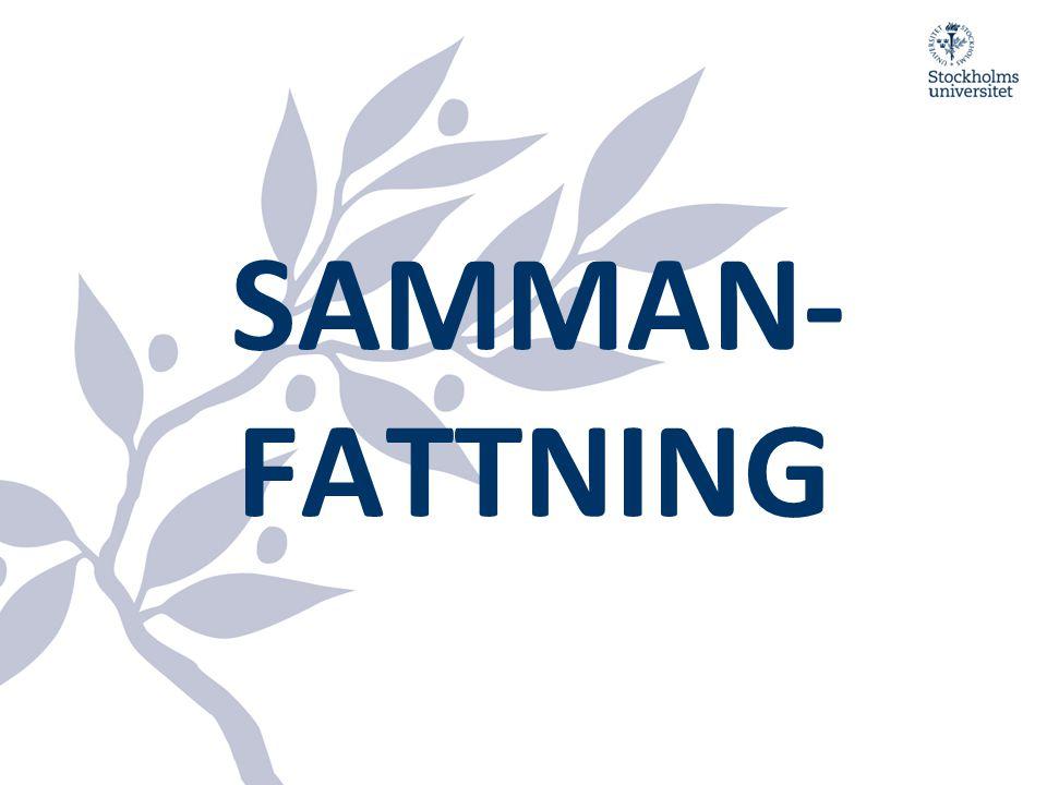 SAMMAN- FATTNING