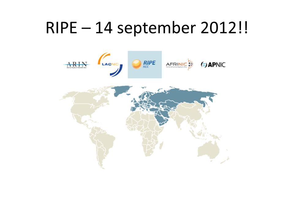 RIPE – 14 september 2012!!