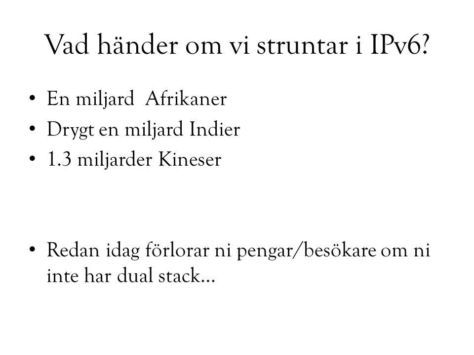 Vad händer om vi struntar i IPv6.