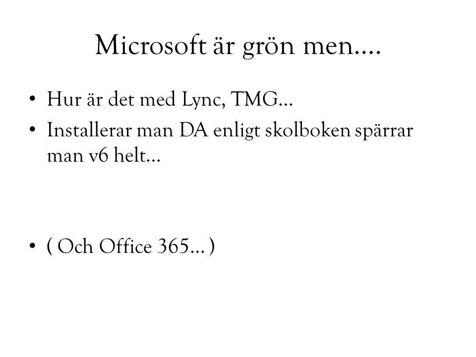 Microsoft är grön men….