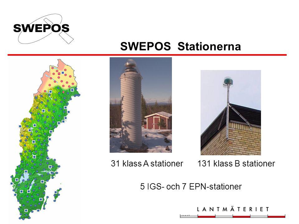 Projekt XYZAC-RTK Svart = befintliga (fanns innan projektet) Blå = nya projektstationer (Ammarnäs, Hemavan, Slussfors, Saxnäs och Fredrika var ej med i planerna från början)