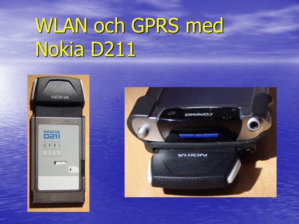 WLAN och GPRS med Nokia D211