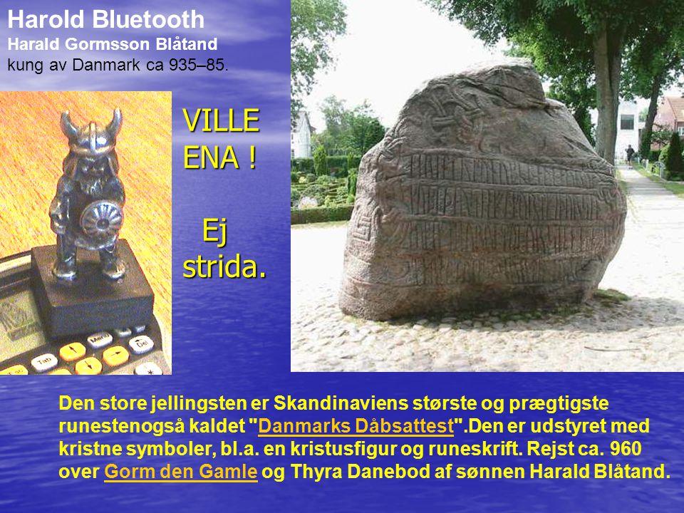 Den store jellingsten er Skandinaviens største og prægtigste runestenogså kaldet