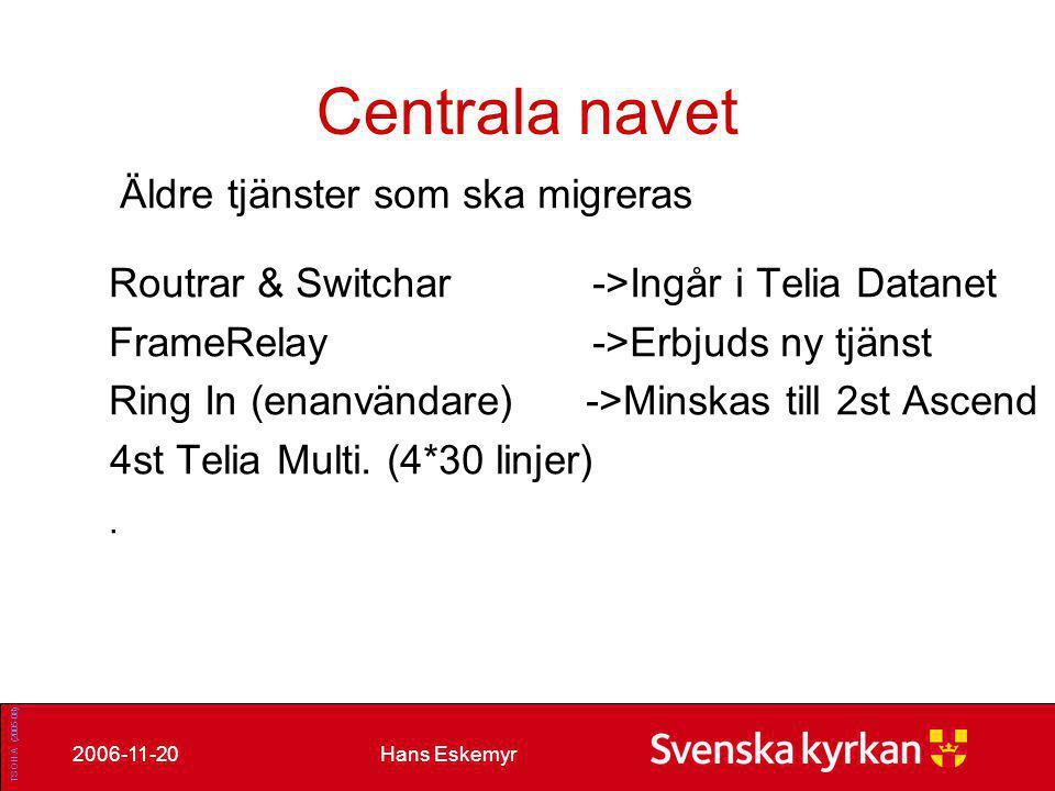 Hans Eskemyr2006-11-20 Befintliga tjänster som förlängs.