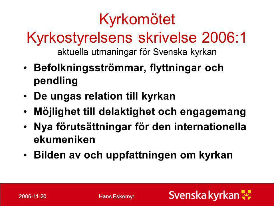 Hans Eskemyr2006-11-20 Skräppost nov 06 • Ungefär 160.000 mail skickas/tas emot per dygn.