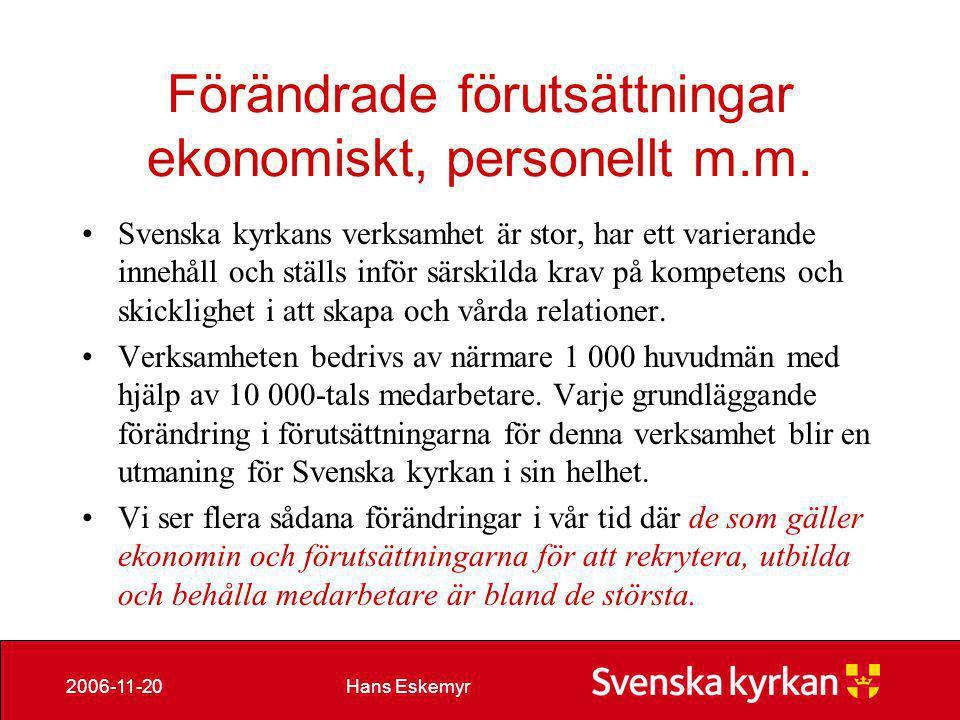 Hans Eskemyr2006-11-20 Exchange maj 06 • Globala adresslistan innehåller 15.961 konton • Gemensamma servrarna 9703 konton • Jordglobsadresser 1639 • 49 siter 16 stycken är Exchange 5.0 /5.5