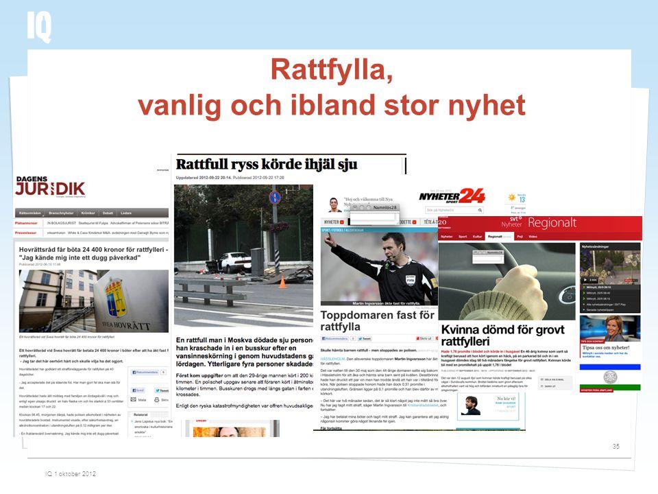 Rattfylla, vanlig och ibland stor nyhet IQ 1 oktober 2012 35