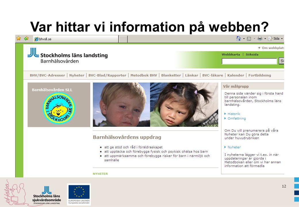 12 Var hittar vi information på webben?