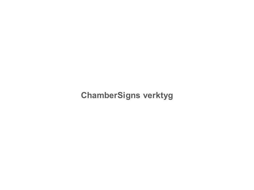 ChamberSigns verktyg