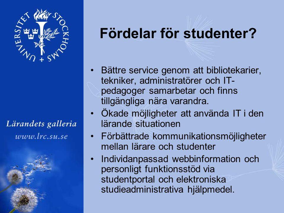Fördelar för studenter.