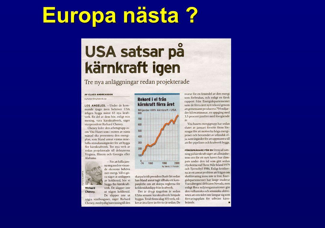 Solcell  140 Wp/m 2  1000 tim maxsol (Sverige)  140 kWh/m 2 /år  Normalförbrukning hushåll/år – 5 000 - 7 000 kWh (utan elvärme)  ca 50 m 2 solpanelyta