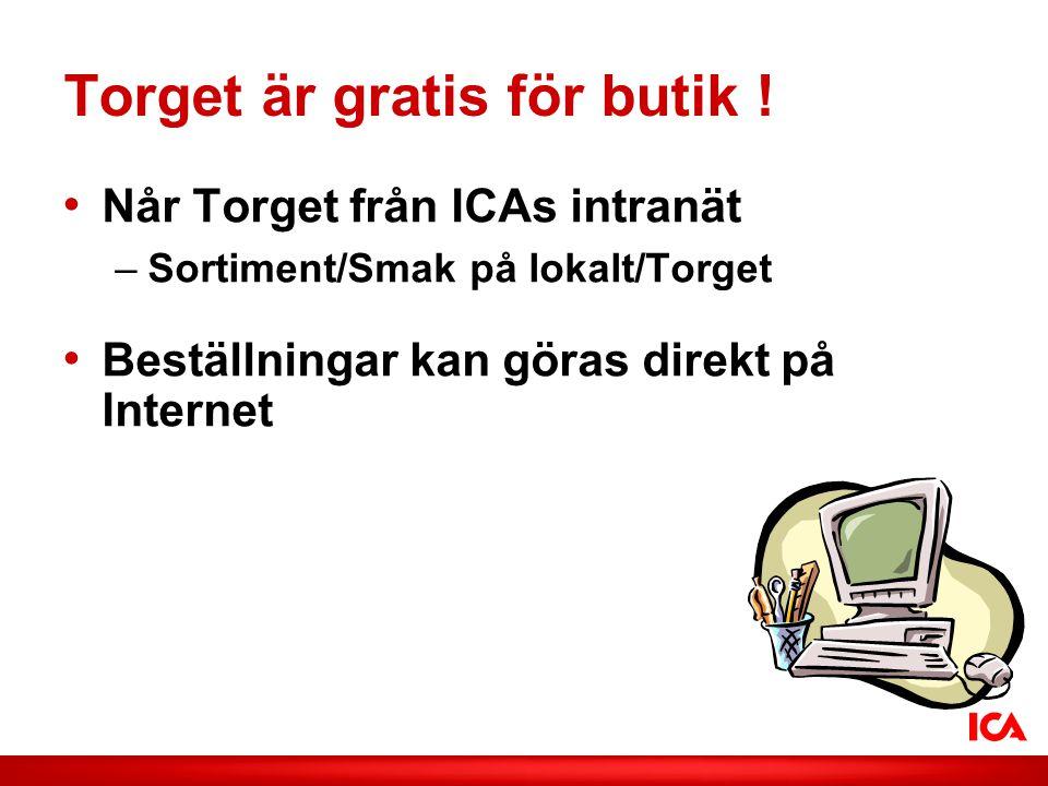 ICA AB /Smak på lokalt Torget är gratis för butik .