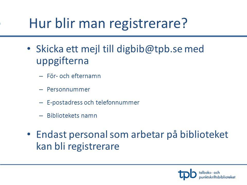 Hur blir man registrerare.