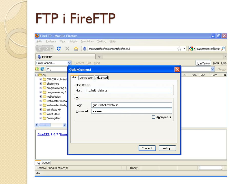 Skicka ett e-postformulär via PHP filen mail.php <?php // Hämta data från formuläret $namn = $_POST[ namn ]; $epost = $_POST[ epost ]; $meddelande = $_POST[ meddelande ]; // Några argument (parametrar) $till = mahmud@hakimdata.se ; $rubrik = Förfrågan från $namn ; $headers = From: $epost ; mail($till, $rubrik, $meddelande, $headers); echo Meddelandet har skickats ; ?> Copyright, www.hakimdata.se, Mahmud Al Hakim, mahmud@hakimdata.se, 2008