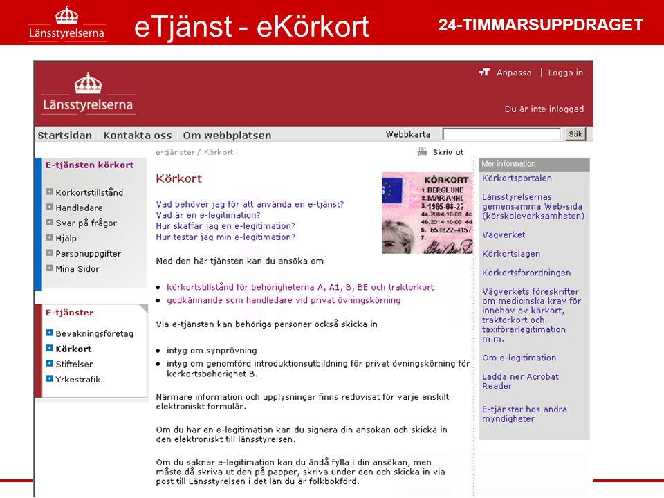 24-TIMMARSUPPDRAGET eTjänst - eKörkort