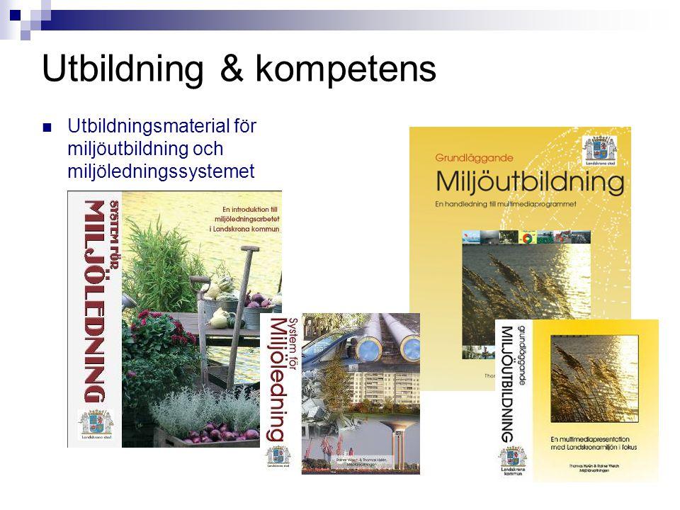 Utbildning & kompetens  Utbildningsmaterial för miljöutbildning och miljöledningssystemet
