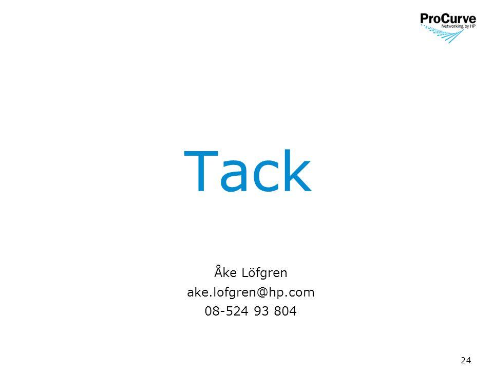 24 Tack Åke Löfgren ake.lofgren@hp.com 08-524 93 804