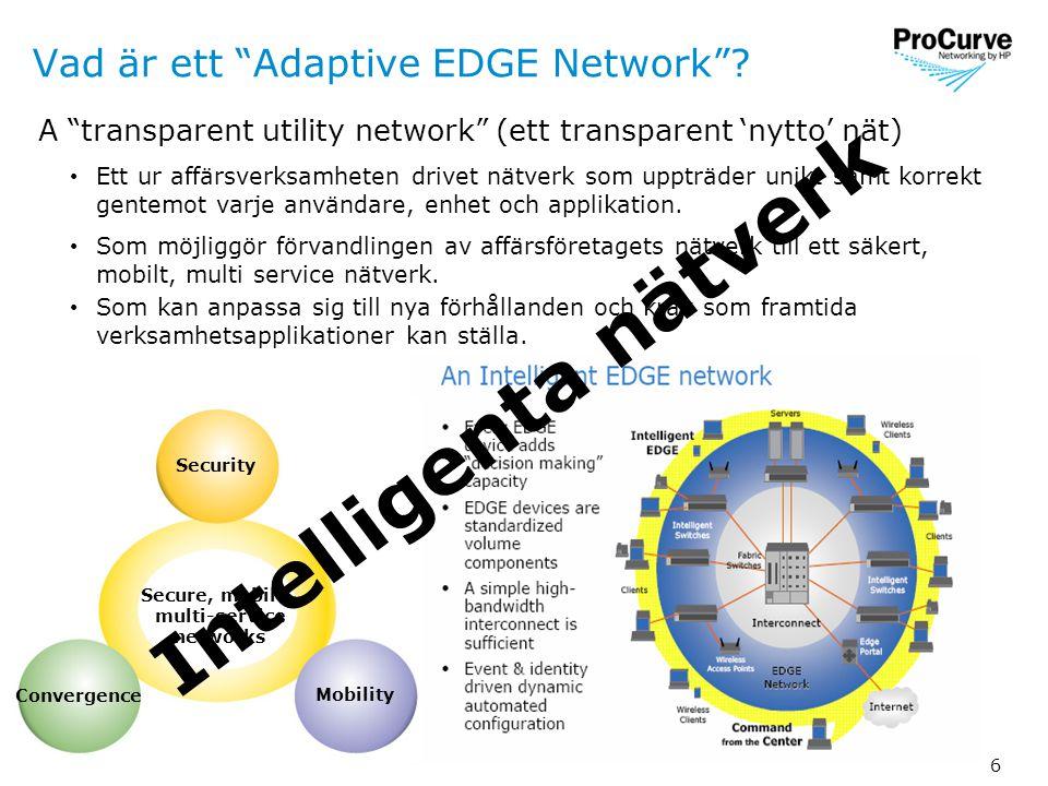 6 Vad är ett Adaptive EDGE Network .