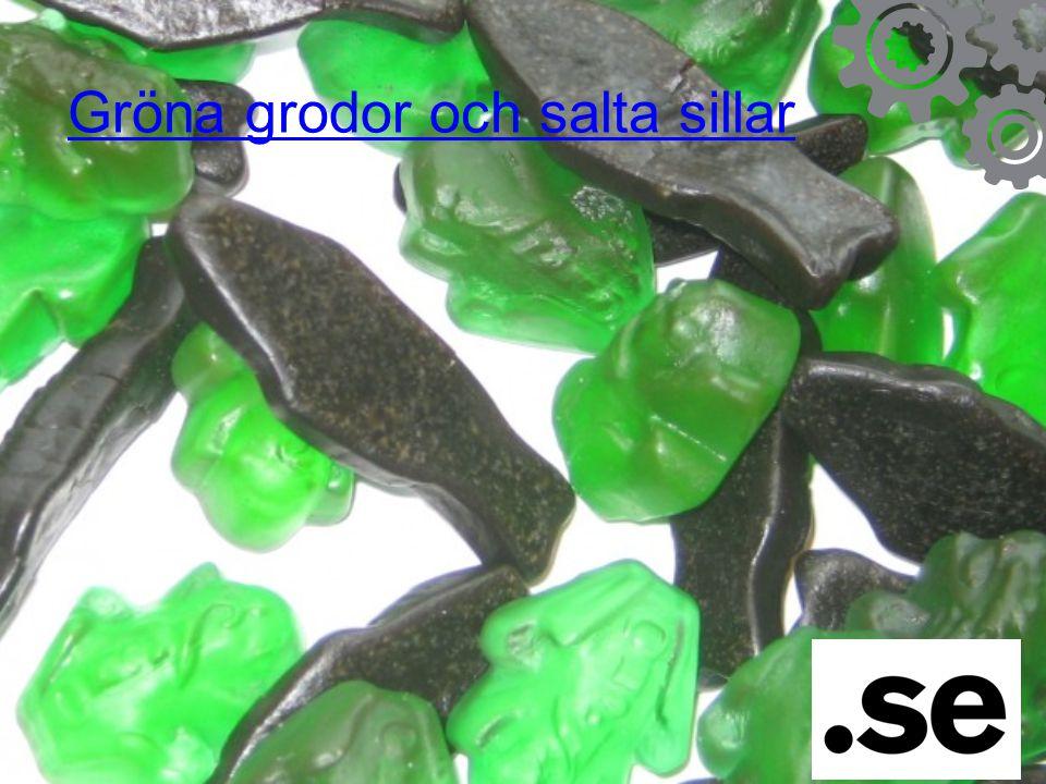 Gröna grodor och salta sillar
