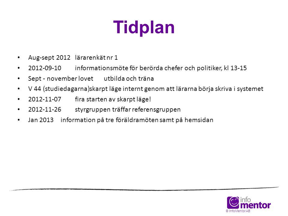 Tidplan • Aug-sept 2012lärarenkät nr 1 • 2012-09-10informationsmöte för berörda chefer och politiker, kl 13-15 • Sept - november lovetutbilda och trän