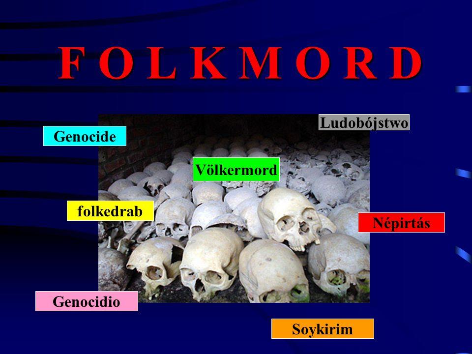 F O L K M O R D Genocide Soykirim Népirtás Ludobójstwo Völkermord folkedrab Genocidio