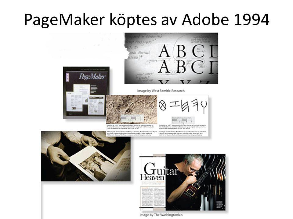 PageMaker köptes av Adobe 1994