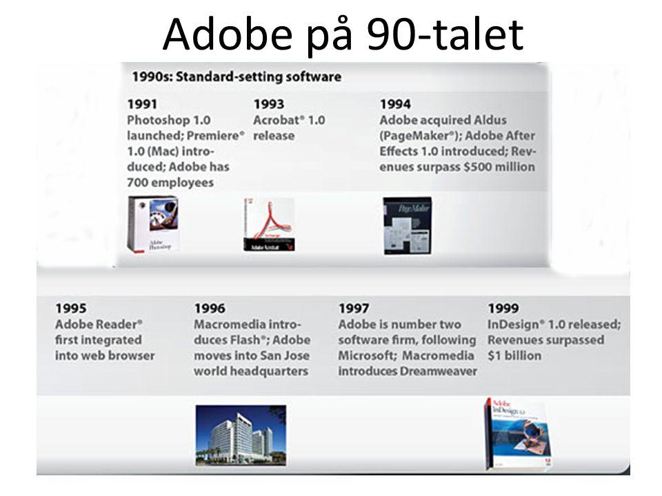 Adobe på 90-talet