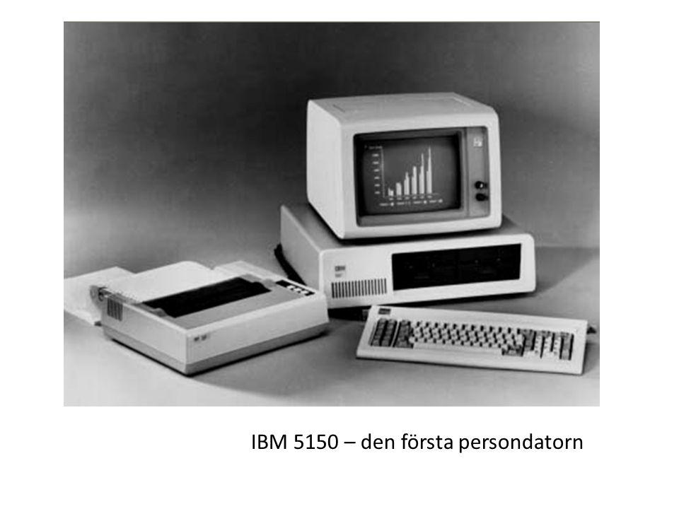 IBM 5150 – den första persondatorn