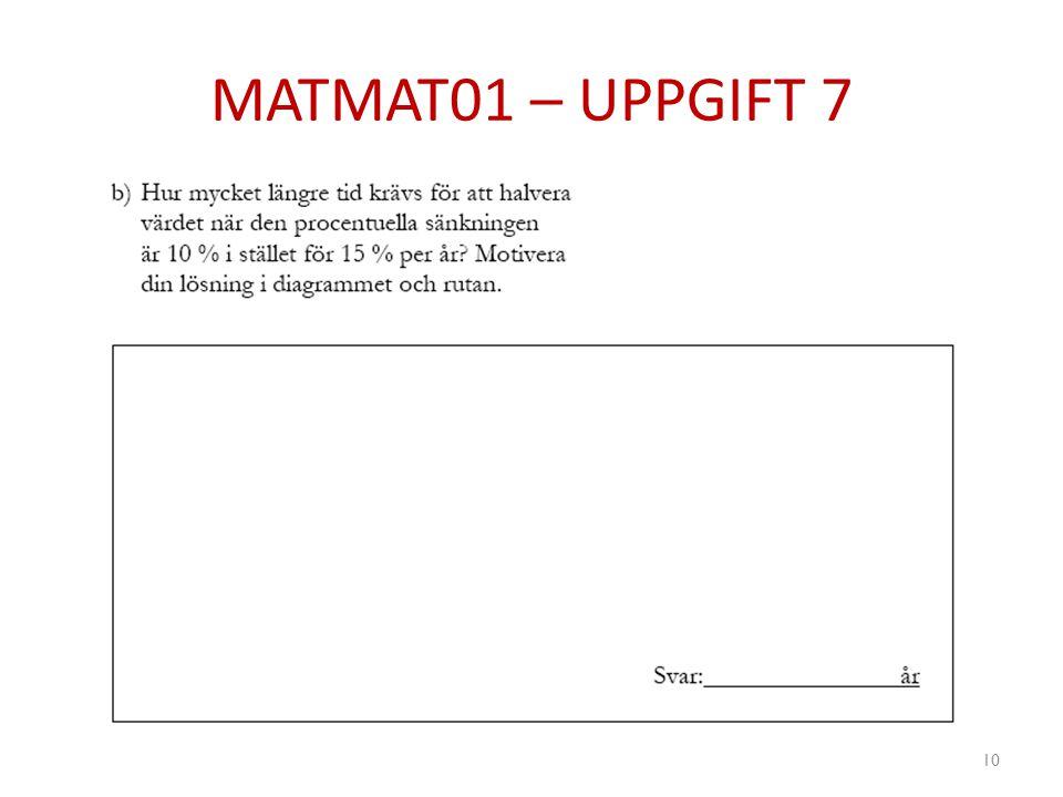 MATMAT01 – UPPGIFT 7 10