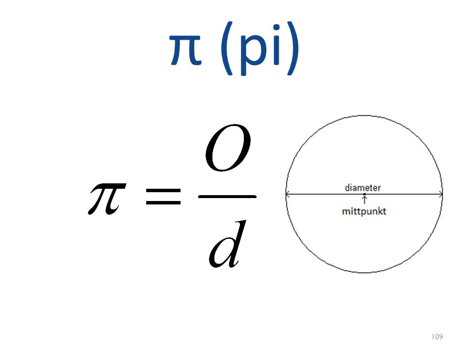 π (pi) 109