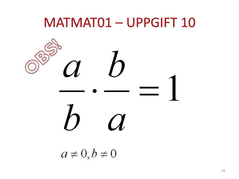MATMAT01 – UPPGIFT 10 14