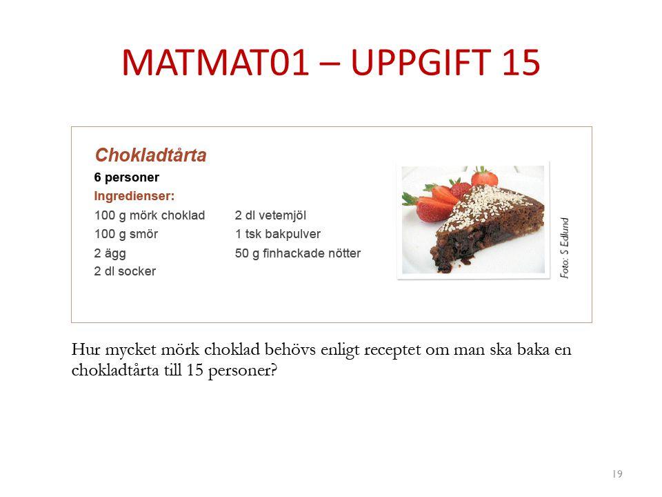 MATMAT01 – UPPGIFT 15 19