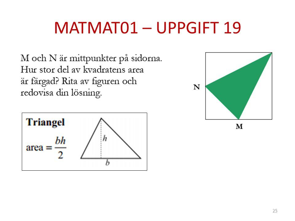 MATMAT01 – UPPGIFT 19 25