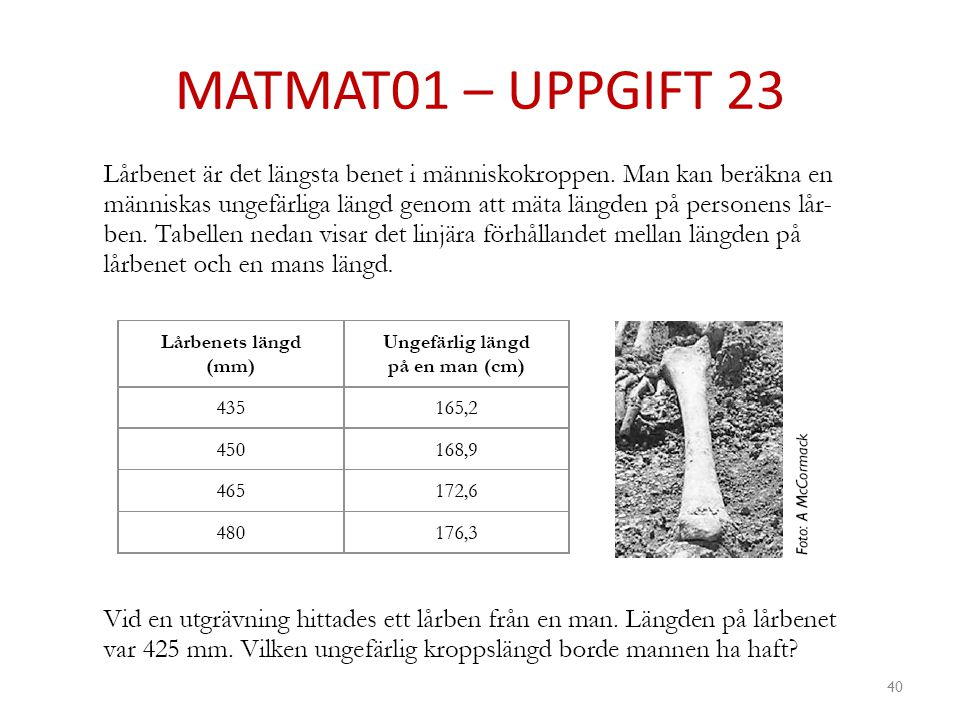MATMAT01 – UPPGIFT 23 40