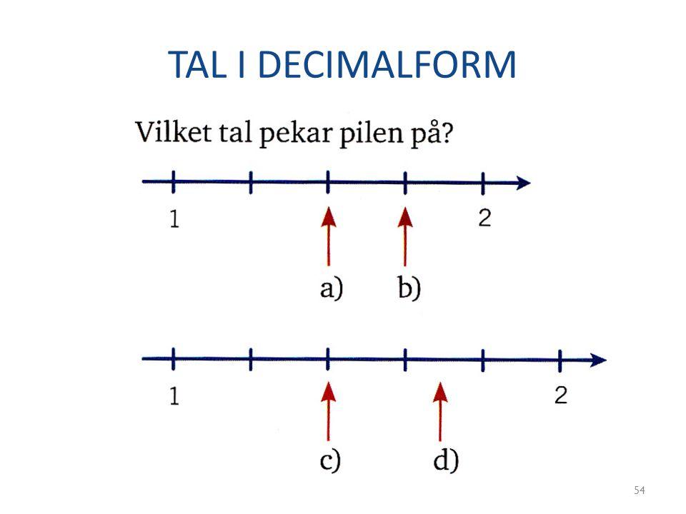 TAL I DECIMALFORM 54