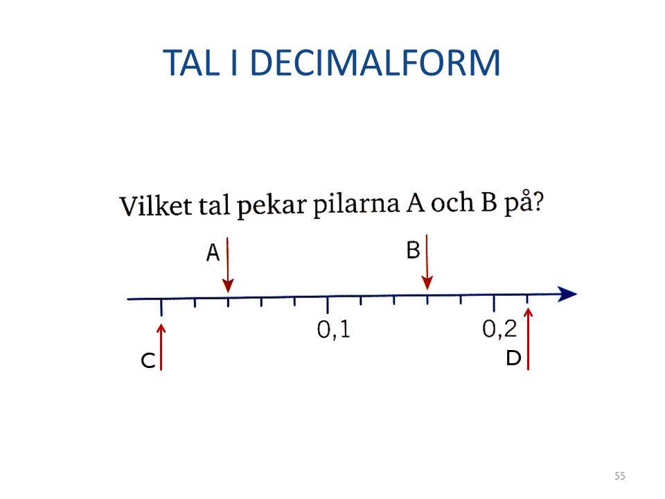 TAL I DECIMALFORM 55 C D