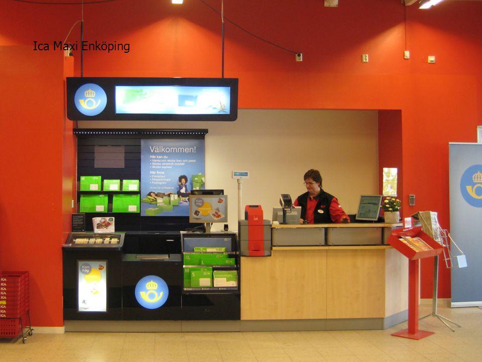 Affärsområde Meddelande/Retail Postens Ombudsnät 2012-2014 16 Ica Maxi Enköping